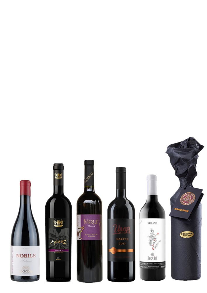 Indigenous Bulgarian Red Wines Case Mavrud Rubin Мелник