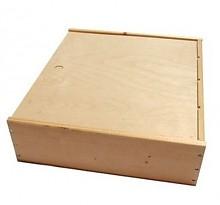 Дървена кутия за 3 бутилки