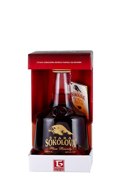 Стара Соколова Ракия 7г Сувенирна кутия